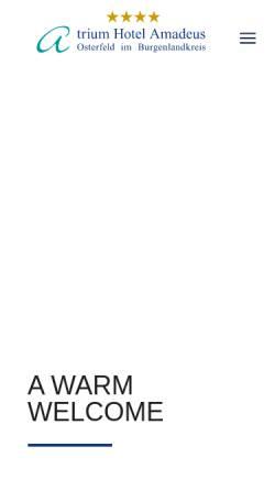 Vorschau der mobilen Webseite www.atrium-hotel-osterfeld.de, Atrium Hotel Amadeus