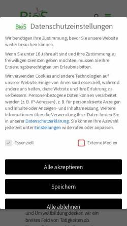 Vorschau der mobilen Webseite www.biologische-station-osterholz.de, Biologische Station Osterholz e.V.