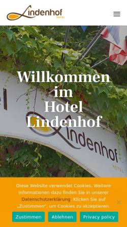 Vorschau der mobilen Webseite www.lindenhof-hotel.com, Hotel Lindenhof