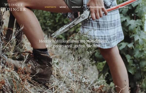 Vorschau von www.weingut-didinger.de, Weingut Didinger
