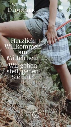 Vorschau der mobilen Webseite www.weingut-didinger.de, Weingut Didinger