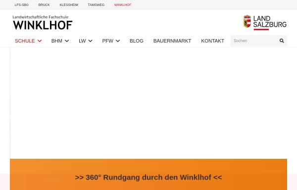 Vorschau von www.winklhof.at, Landwirtschaftliche Fachschule Winklhof