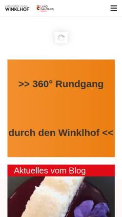 Vorschau der mobilen Webseite www.winklhof.at, Landwirtschaftliche Fachschule Winklhof
