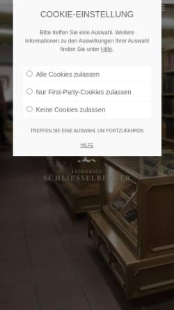 Vorschau der mobilen Webseite www.lederhaus.at, Lederhaus Schliesselberger - Lederwaren Felle und Pelze in Salzburg