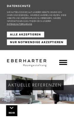 Vorschau der mobilen Webseite www.eberharter.co.at, Raumausstattung Eberharter
