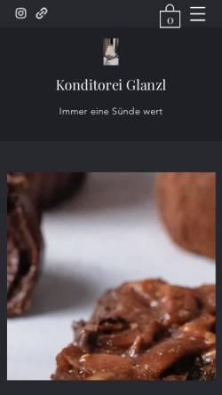 Vorschau der mobilen Webseite www.konditorei-glanzl.at, City Cafe - Gerhard Glanzl GmbH