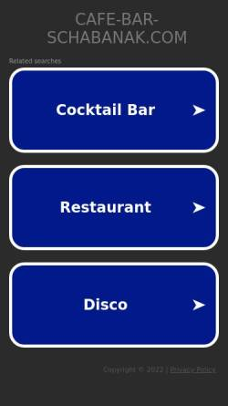 Vorschau der mobilen Webseite www.cafe-bar-schabanak.com, Cafe Bar Schabanakl