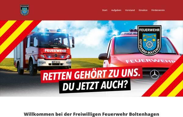 Vorschau von www.feuerwehr-boltenhagen.de, Freiwillige Feuerwehr Boltenhagen