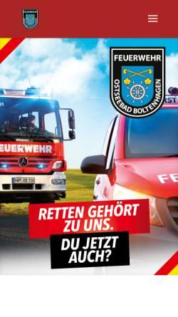 Vorschau der mobilen Webseite www.feuerwehr-boltenhagen.de, Freiwillige Feuerwehr Boltenhagen