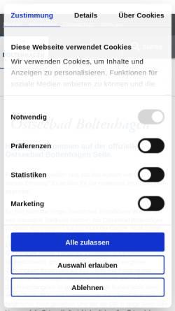Vorschau der mobilen Webseite www.boltenhagen.de, Ostseebad Boltenhagen