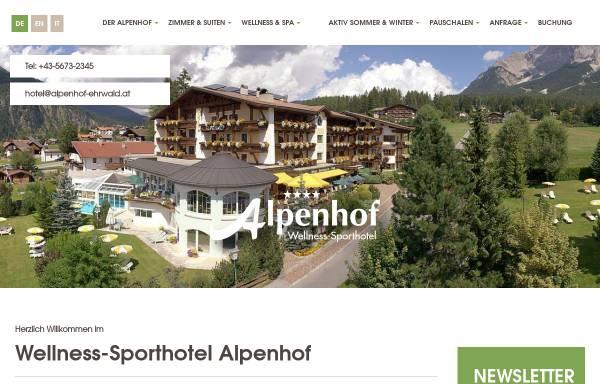 Vorschau von www.alpenhof-ehrwald.at, Alpenhof