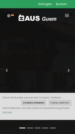 Vorschau der mobilen Webseite www.hausguem.at, Ferienwohnungen Haus Guem
