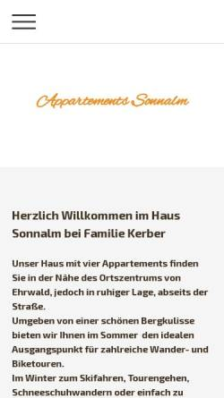 Vorschau der mobilen Webseite www.ferienwohnung-ehrwald.com, Haus Sonnalm