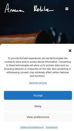Vorschau der mobilen Webseite cello.rehker.de, Rehker, Anna - Cellopädagogin
