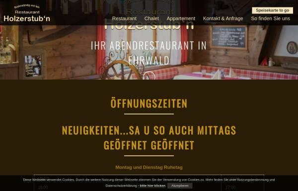Vorschau von www.holzerstubn.at, Restaurant Holzerstubn