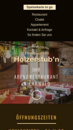 Vorschau der mobilen Webseite www.holzerstubn.at, Restaurant Holzerstubn