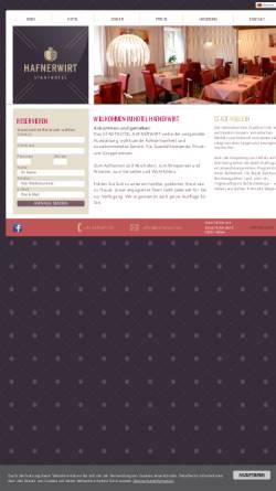 Vorschau der mobilen Webseite www.hafnerwirt.com, Hafnerwirt