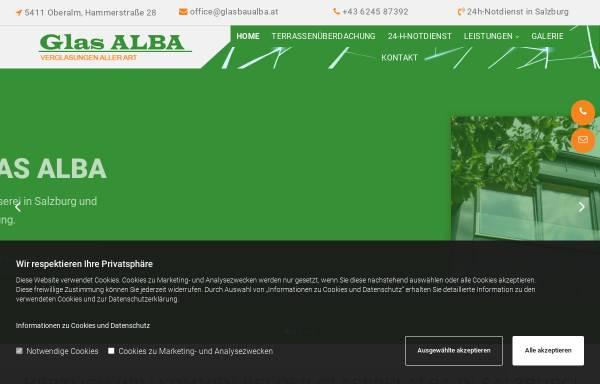 Vorschau von www.glasalba.at, Glaserei ALBA
