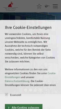 Vorschau der mobilen Webseite www.tana.at, t a n a - Werner & Mertz Professional