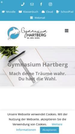 Vorschau der mobilen Webseite www.gym-hartberg.ac.at, Gymnasium Hartberg