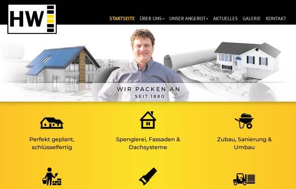 Vorschau von www.huber-wimmer.at, Bauunternehmen Huber-Wimmer