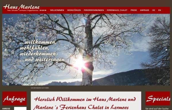 Vorschau von www.hausmarlene.com, Haus Marlene