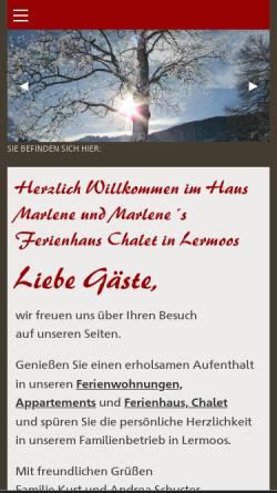 Vorschau der mobilen Webseite www.hausmarlene.com, Haus Marlene