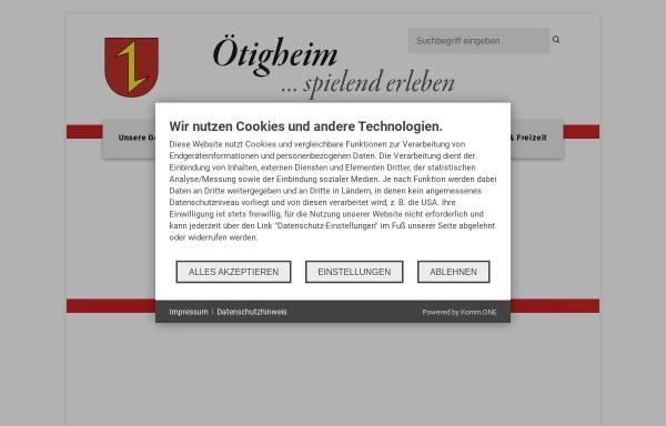 Vorschau von www.oetigheim.de, Gemeinde Ötigheim