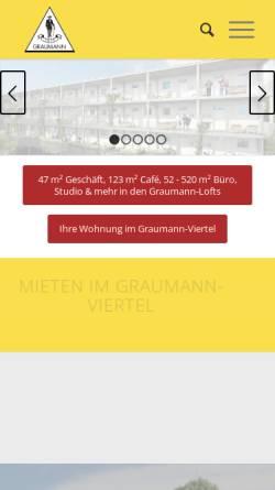 Vorschau der mobilen Webseite www.graumann.at, Graumann-Zentrum, Traun