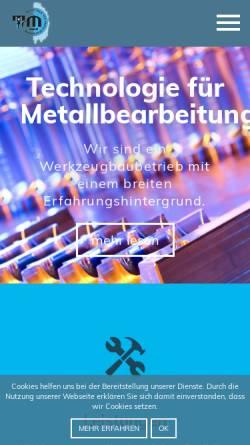 Vorschau der mobilen Webseite www.tfm.at, TFM GmbH - Technologie für Metallbearbeitung