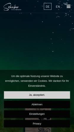 Vorschau der mobilen Webseite www.fewo-scheiber.at, Ferienpark Scheiber am Klopeiner See