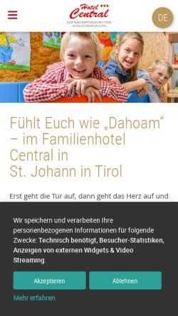 Vorschau der mobilen Webseite www.familienhotels-stjohann.com, Hotel St. Johanner Hof