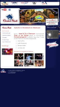 Vorschau der mobilen Webseite www.gruberstadl.at, Obertauern - Apres Ski im Gruberstadl, Salzburgerland