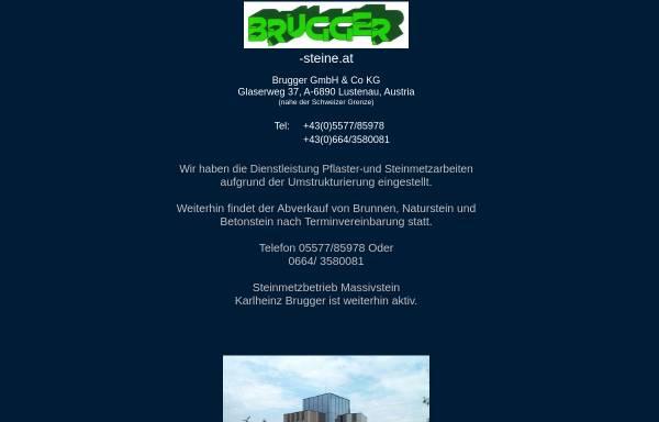 Vorschau von www.brugger-steine.at, Brugger GesmbH & Co KG