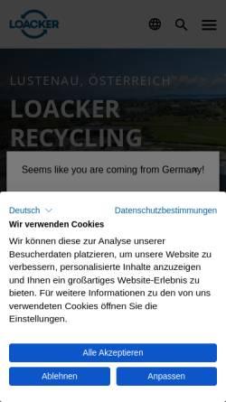 Vorschau der mobilen Webseite www.haeusle.at, Hubert Häusle GesmbH &CoKG
