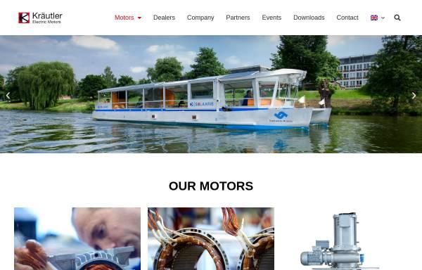 Vorschau von www.kraeutler.at, Kräutler Elektromaschinen