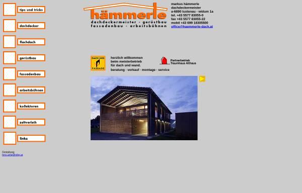 Vorschau von www.haemmerle-dach.at, Markus Hämmerle - Dachdeckermeister
