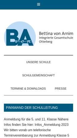 Vorschau der mobilen Webseite www.igs-otterberg.de, Integrierte Gesamtschule Otterberg
