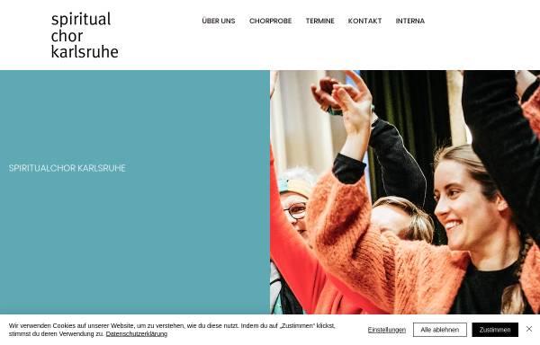Vorschau von www.spiritualchor-karlsruhe.de, Spiritualchor Karlsruhe