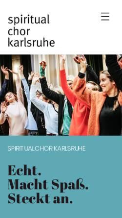 Vorschau der mobilen Webseite www.spiritualchor-karlsruhe.de, Spiritualchor Karlsruhe