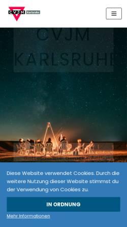 Vorschau der mobilen Webseite www.cvjm-ka.de, CVJM Karlsruhe