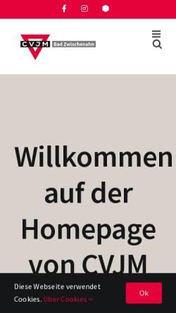 Vorschau der mobilen Webseite www.cvjm-bad-zwischenahn.de, CVJM Bad Zwischenahn e.V.