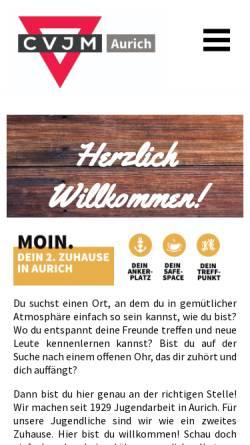Vorschau der mobilen Webseite www.cvjm-aurich.de, CVJM Aurich