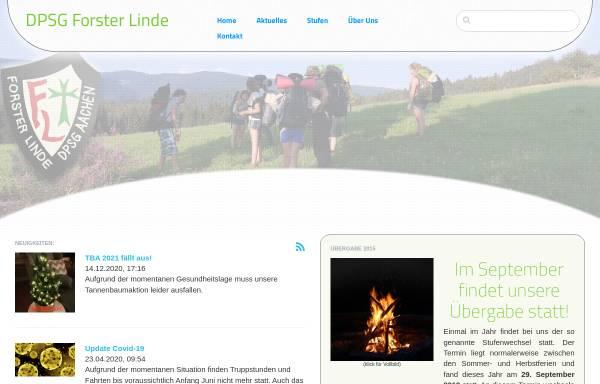 Vorschau von www.forster-linde.de, Deutsche Pfadfinderschaft Sankt Georg (DPSG) - Stamm Forster-Linde