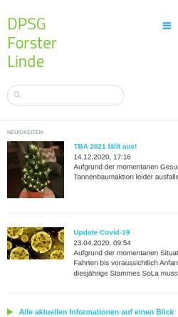 Vorschau der mobilen Webseite www.forster-linde.de, Deutsche Pfadfinderschaft Sankt Georg (DPSG) - Stamm Forster-Linde