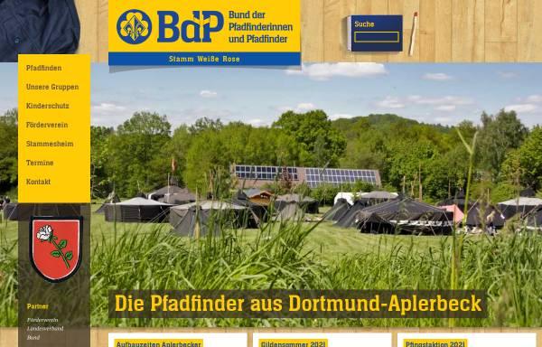 Vorschau von www.pfadfinder-dortmund.de, Bund der Pfadfinderinnen und Pfadfinder e.V. (BdP) - Stamm Weiße Rose
