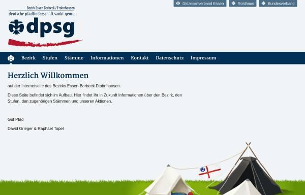 Vorschau von www.dpsg-essen-bofro.de, Deutsche Pfadfinderschaft Sankt Georg (DPSG) - Bezirk Essen Borbeck-Frohnhausen