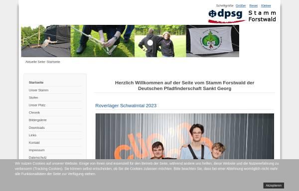 Vorschau von www.dpsg-forstwald.de, Deutsche Pfadfinderschaft Sankt Georg (DPSG) - Stamm Krefeld-Forstwald