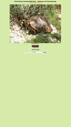 Vorschau der mobilen Webseite www.landschildkroete.net, Landschildkröte