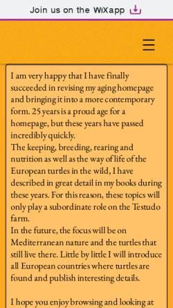 Vorschau der mobilen Webseite www.testudo-farm.de, Testudo-Farm
